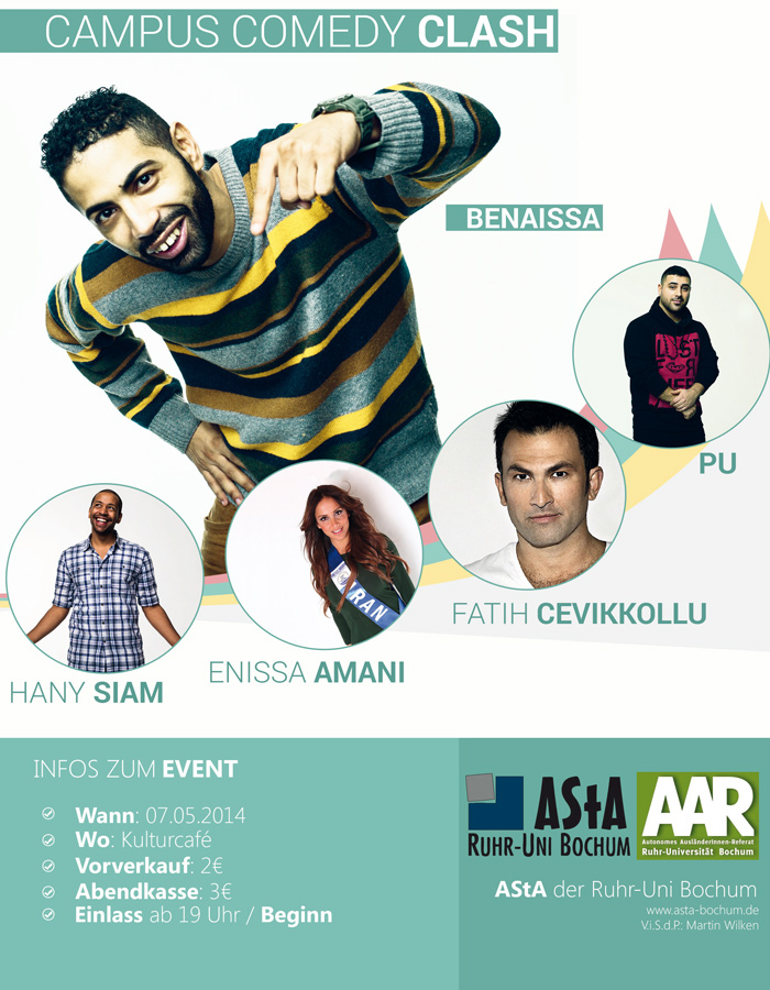 Campus Comedy Clash am 7. Mai