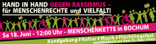Hand in Hand against Racism: Human Chain in Bochum