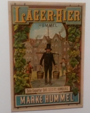 Advertising beer from Hamburg: Hummel Pils. Bild: fry