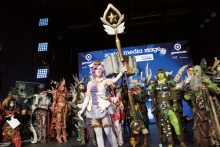Cosplay-contest: an annual highlight for participants and audience. Foto: Medienservice:Koelnmesse Bilddatenbank